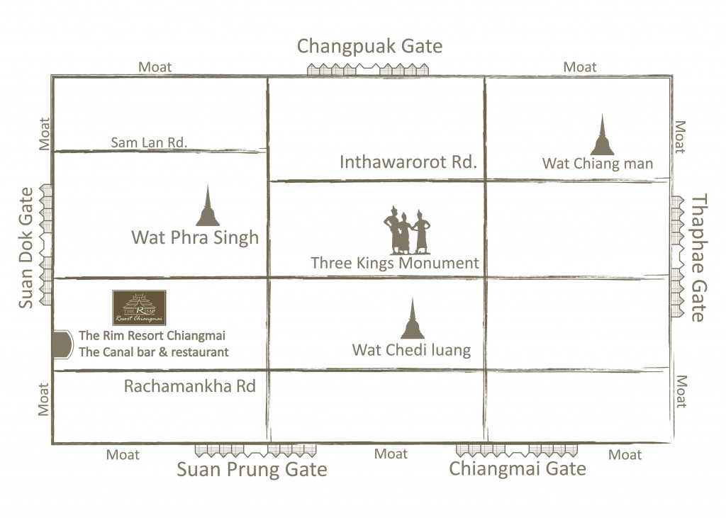 Map The Rim Resort Chiang mai update